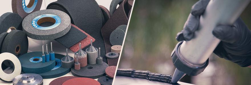 solution abrasive et adhesive